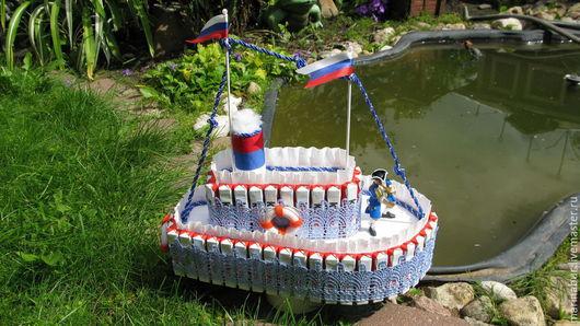 """Букеты ручной работы. Ярмарка Мастеров - ручная работа. Купить """"Киндер пароход"""". Handmade. Разноцветный, сладкое, Букеты из конфет"""