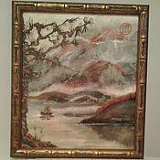 Картины и панно ручной работы. Ярмарка Мастеров - ручная работа Горы и воды. Handmade.