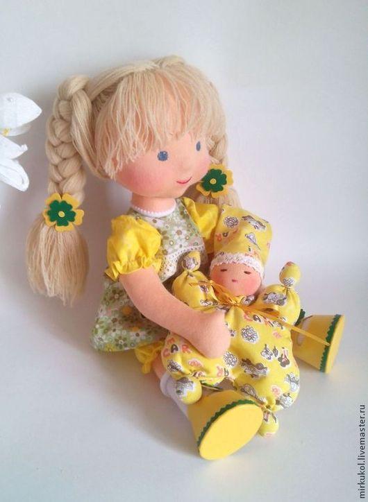 """Вальдорфская игрушка ручной работы. Ярмарка Мастеров - ручная работа. Купить """"Доброе солнышко"""" кукла вальдорфская 36 см. Handmade."""