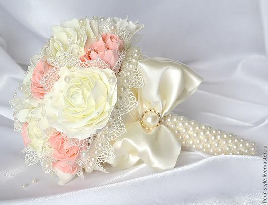 Свадебные цветы ручной работы. Ярмарка Мастеров - ручная работа. Купить букет невесты. Handmade. Белый, для невесты, бусинки