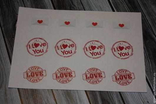 Упаковка ручной работы. Ярмарка Мастеров - ручная работа. Купить Наклейки LOVE. Handmade. Бордовый, love, наклейка на конверт, играмуз