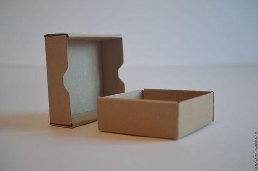 Упаковка ручной работы. Ярмарка Мастеров - ручная работа. Купить Самосборная коробка 010 (8х8х3). Handmade. Коричневый, картонная упаковка