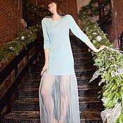 Одежда ручной работы. Ярмарка Мастеров - ручная работа Платье«пачка»цвет мятный , рукав 3/4. Handmade.