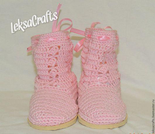 Обувь ручной работы. Ярмарка Мастеров - ручная работа. Купить сапожки для девочки. Handmade. Сапоги, сапожки вязаные, летние, девочке