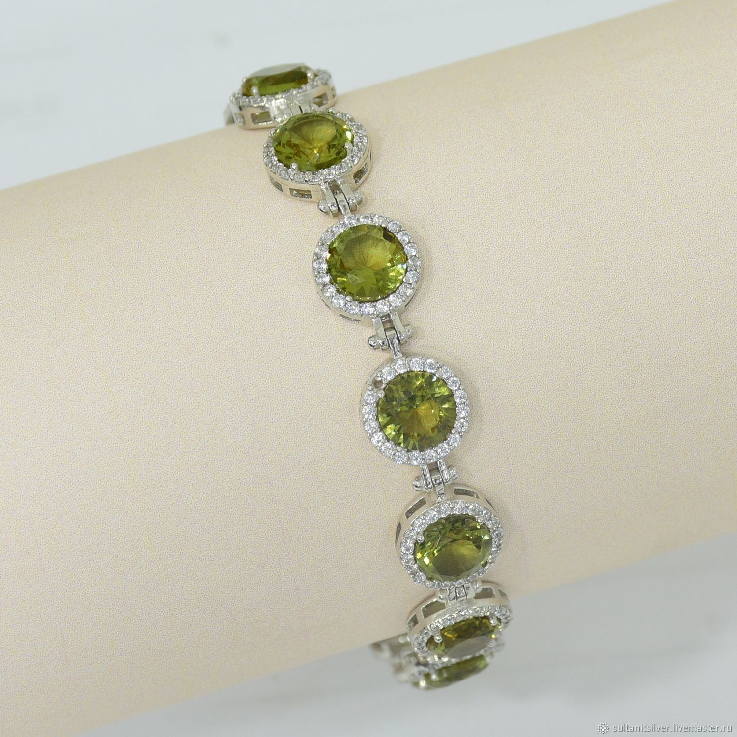 Silver bracelet with sultanica, Bead bracelet, Moscow,  Фото №1