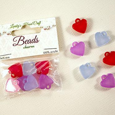 Materials for creativity handmade. Livemaster - original item Acrylic beads-pendants in the shape of a heart.. Handmade.