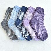 Одежда детская handmade. Livemaster - original item Children`s socks are warm. 50% merino, 50% alpaca. Handmade.