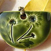 """Подвеска ручной работы. Ярмарка Мастеров - ручная работа Кулон """"Луговые цветы"""", керамика. Handmade."""