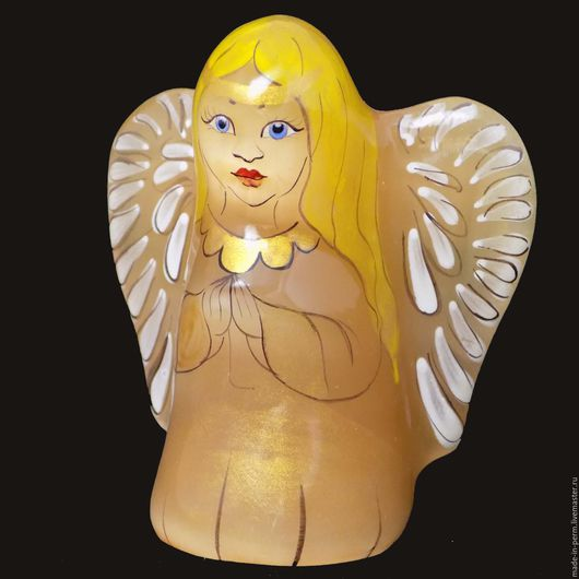 Статуэтки ручной работы. Ярмарка Мастеров - ручная работа. Купить Ангел с голубыми глазами - фигурка из камня Селенит. Handmade. Фигурка