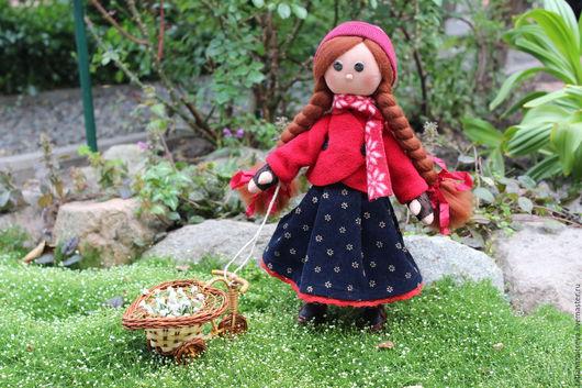 Коллекционные куклы ручной работы. Ярмарка Мастеров - ручная работа. Купить Интерьерная текстильная кукла Анфиса. Handmade. Комбинированный