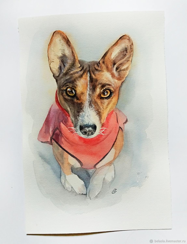 Portrait Pet portrait watercolor, Pictures, Moscow,  Фото №1