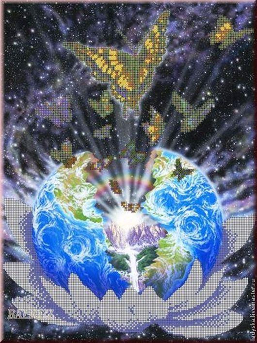 Картины цветов ручной работы. Ярмарка Мастеров - ручная работа. Купить ,, Начало мира,,. Handmade. Тёмно-синий, Картины и панно