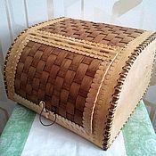 handmade. Livemaster - original item Wooden cat wall wicker. For bread storage. Handmade.