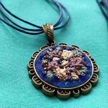 Decorations handmade. Livemaster - original item Pendant embroidered
