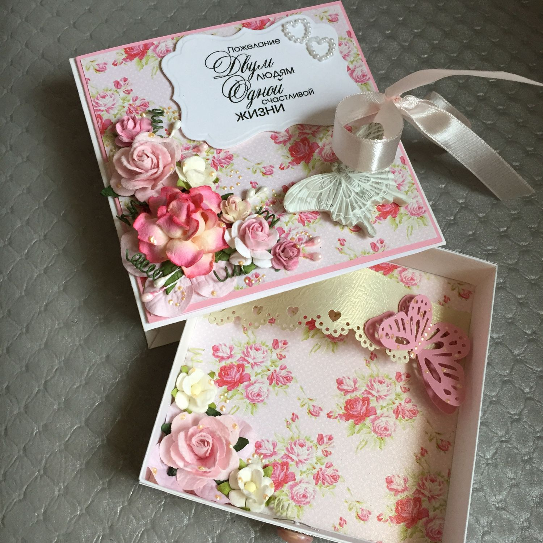 Коробка открытка на свадьбу 6