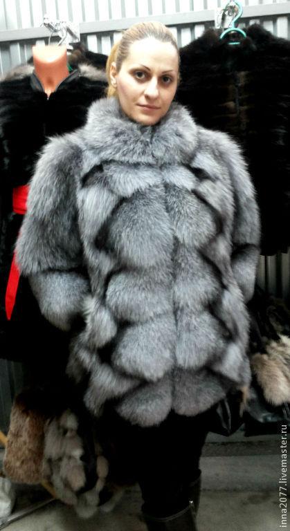 Верхняя одежда ручной работы. Ярмарка Мастеров - ручная работа. Купить шубка из меха блюфрост.. Handmade. Серый, зима 2015
