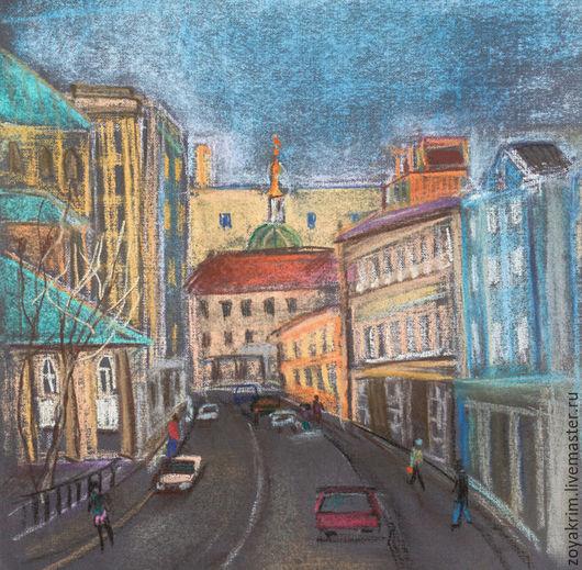 Город ручной работы. Ярмарка Мастеров - ручная работа. Купить московские улицы. Handmade. Бежевый, город, москва, улица