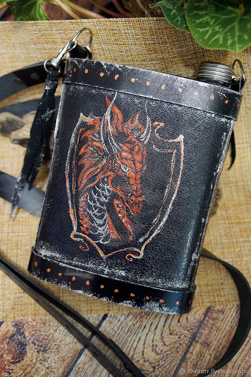Leather flask 'Red dragon', Flask, Chelyabinsk,  Фото №1