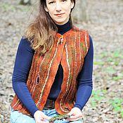 Одежда ручной работы. Ярмарка Мастеров - ручная работа Жилет валяный Ирландский мох. Handmade.