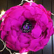 Брошь-булавка ручной работы. Ярмарка Мастеров - ручная работа Брошь-цветок из ткани. Handmade.