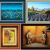 Материалы для творчества ручной работы. Ярмарка Мастеров - ручная работа Картины панель ткани. Handmade.