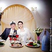 Свадебный салон ручной работы. Ярмарка Мастеров - ручная работа Шампанское «Жених и Невеста». Коллекция «Красные цветы». Handmade.