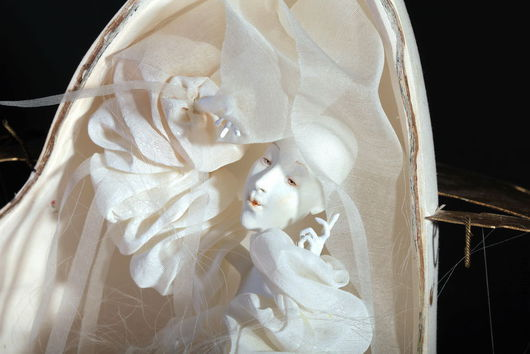 Коллекционные куклы ручной работы. Ярмарка Мастеров - ручная работа. Купить Молчание тутового шелкопряда. Handmade. Белый, волшебство, текстиль