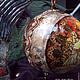 Новый год 2017 ручной работы. Интерьерный  шар. Lila Abil Krivi. Ярмарка Мастеров. Новогодний интерьер, коричневый, Альфонс Муха