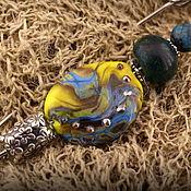 """Украшения ручной работы. Ярмарка Мастеров - ручная работа """"Ирис"""" серебряная брошь лэмпворк (925 проба). Handmade."""