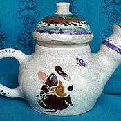 "Посуда ручной работы. Ярмарка Мастеров - ручная работа Чайник ""Собака улыбака"". Handmade."