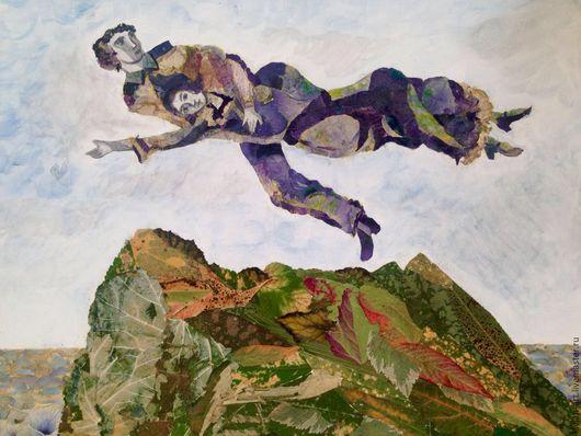 Картина-ошибана Полет над горой