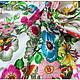 Шитье ручной работы. Ткань натуральный шелк Голландский сад. Ткани, аппликации. Инесса (MMonro). Ярмарка Мастеров. Шелк 100%