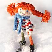 Куклы и игрушки ручной работы. Ярмарка Мастеров - ручная работа Кукла. Кукла вязаная интерьерная. Пеппи Длинный чулок. Handmade.