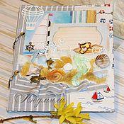 Канцелярские товары ручной работы. Ярмарка Мастеров - ручная работа Мамин дневник  в морском стиле для мальчикка. Handmade.