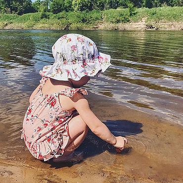 Clothing handmade. Livemaster - original item Bilateral Panama hats for girls. Handmade.