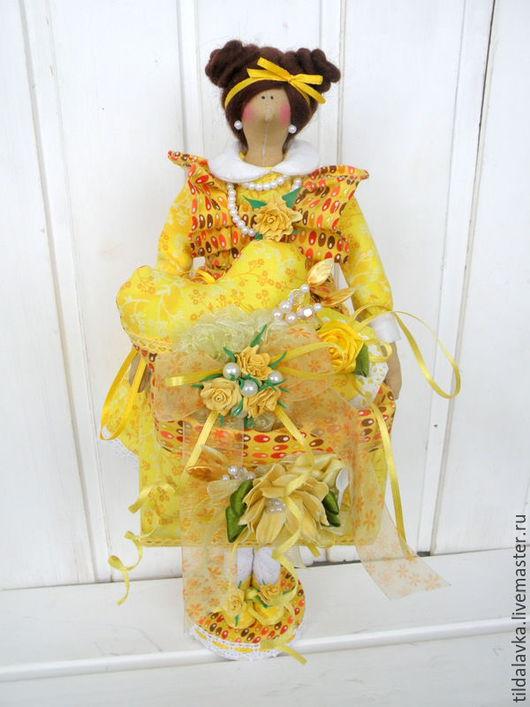 """Куклы Тильды ручной работы. Ярмарка Мастеров - ручная работа. Купить Чайная дама """"Полина... Чай с лимоном и бергамотом"""". Handmade."""