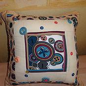 Для дома и интерьера ручной работы. Ярмарка Мастеров - ручная работа декоративная наволочка пуговка. Handmade.