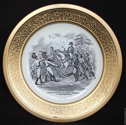 Винтажные предметы интерьера. Ярмарка Мастеров - ручная работа. Купить Тарелка панно Наполеон фарфор латунь Голландия 53. Handmade.
