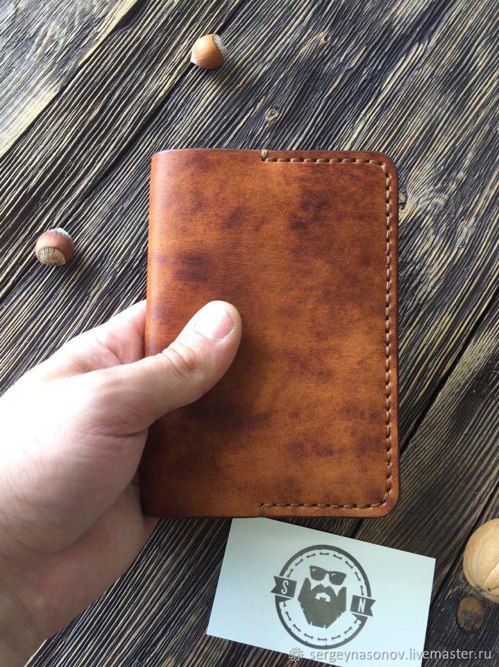 Обложка для паспорта из натуральной кожи, Обложка на паспорт, Воронеж,  Фото №1