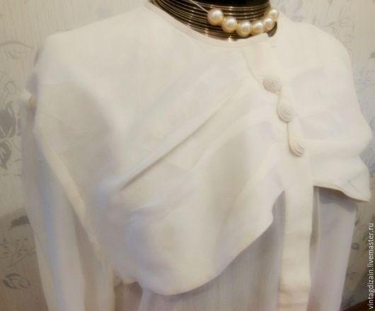 Одежда. Ярмарка Мастеров - ручная работа. Купить Блузка шифон шёлк винтаж. Handmade. Старинный стиль, блузон, шелковая блузка