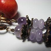 Украшения handmade. Livemaster - original item Earrings with amethyst and lapis lazuli