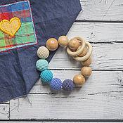 Одежда handmade. Livemaster - original item Teether juniper in shades of blue. Handmade.