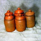 Для дома и интерьера ручной работы. Ярмарка Мастеров - ручная работа Баночки керамические для чая и специй. Handmade.