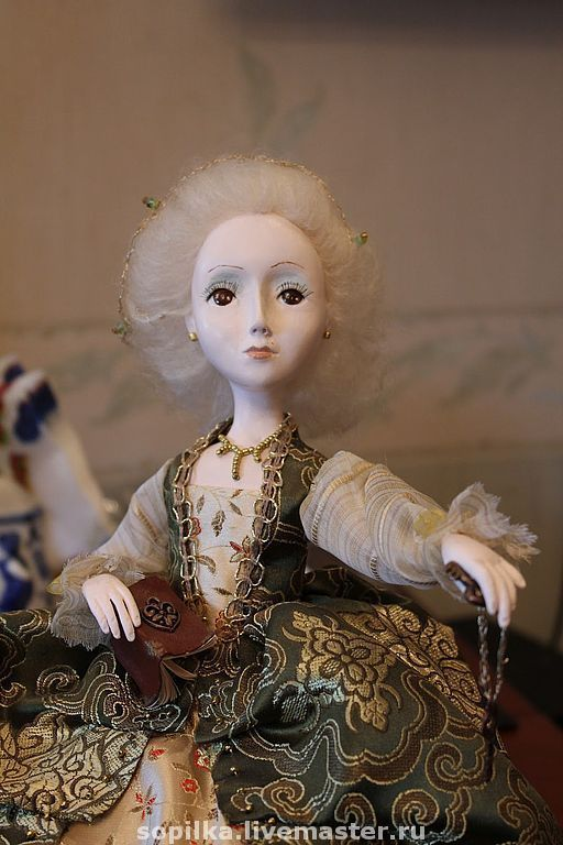 Коллекционные куклы ручной работы. Ярмарка Мастеров - ручная работа. Купить Кукла-интерьерная (будуарка) Ключи от сердца Помпадур. Handmade.