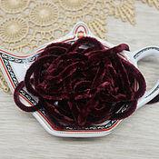 Материалы для творчества handmade. Livemaster - original item Accessories for embroidery: Chenille 5 mm polyester Bordeaux 1 meter. Handmade.