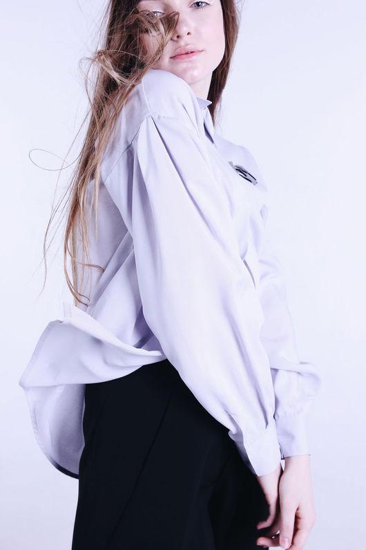 Блузки ручной работы. Ярмарка Мастеров - ручная работа. Купить Рубашка Statement Shirt №4. Handmade. Рубашка, голубая рубашка