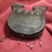 Субкультуры handmade. Livemaster - original item Medieval belt bag with embossed Dordrecht. Handmade.