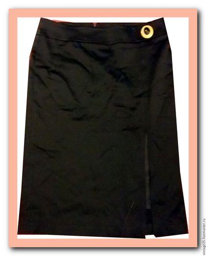 Одежда. Ярмарка Мастеров - ручная работа. Купить Шикарная юбка карандаш. Handmade. Черный, винтажная юбка