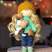 Мишки Тедди ручной работы. Ярмарка Мастеров - ручная работа Кукла текстильная Даша. Кукла интерьерная. Кукла коллекционная.. Handmade.