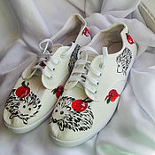 Обувь ручной работы handmade. Livemaster - original item Sneakers for women painting